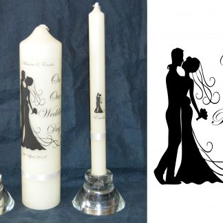 2 become 1 unity wedding candle set