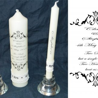 2 souls unity wedding candle set