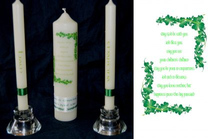 irirsh wedding blessing unity wedding candle set