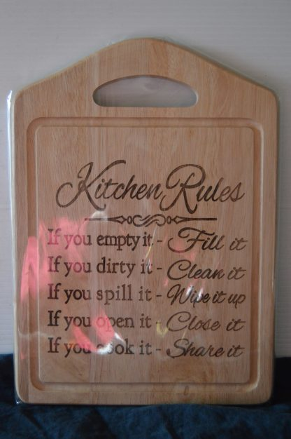 kitchen rules chopping board