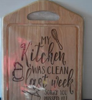 clean kitchen chopping board