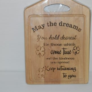 may the dreams chopping board