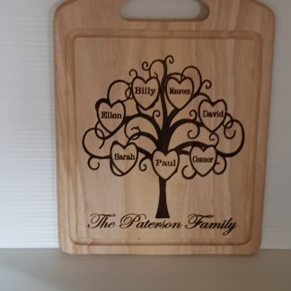 Family tree chopping board