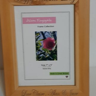 wooden engraved photo frames